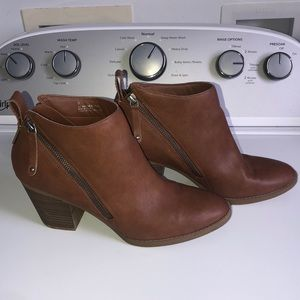 hardly worn brown booties